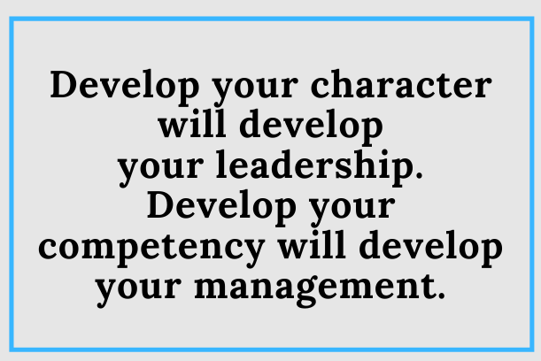 Do You Develop Your Character Or Competency?