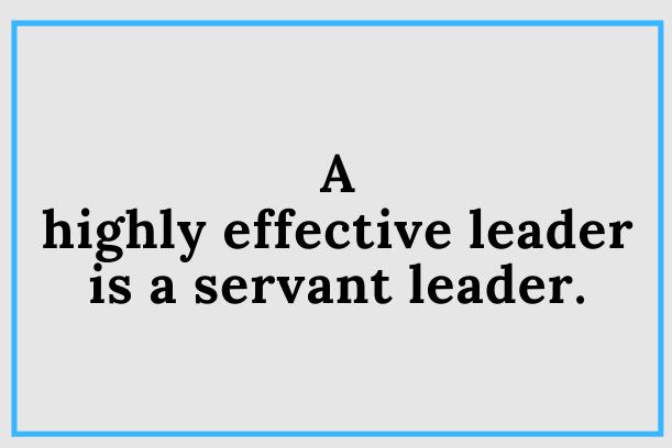 Should Leaders Serve Or Be Served?