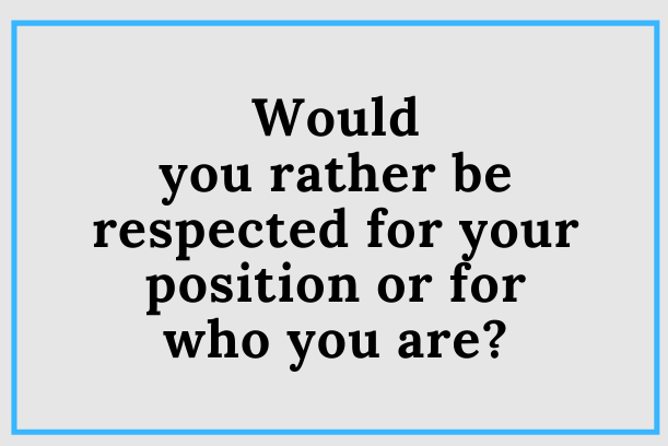 The Leadership Position And You